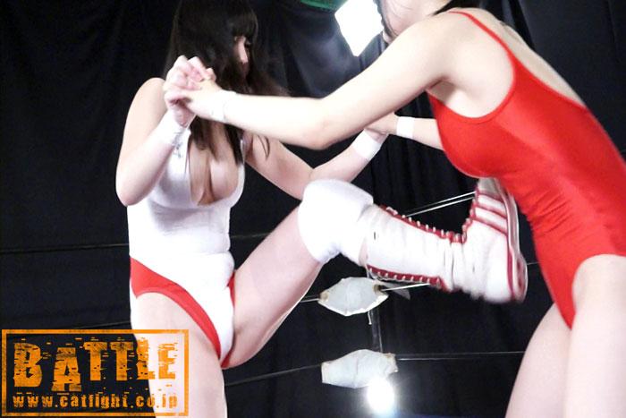 女子プロレス FG キャットファイト フェアリー純 首絞め 愛代さやか